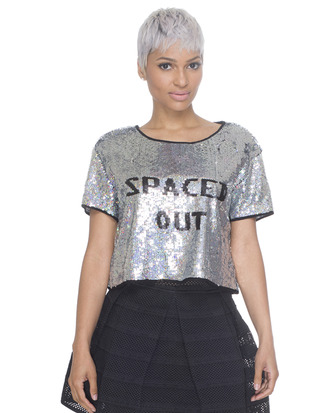 sequins silver top sequin crop top silver and black silver and black crop top