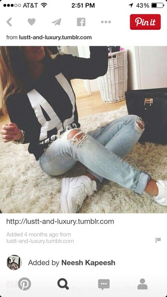 jeans sweater black hair accessory jewels