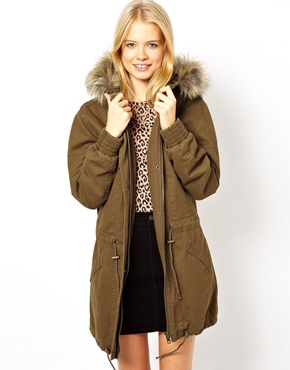 ASOS | ASOS Washed Drop Waist Parka at ASOS