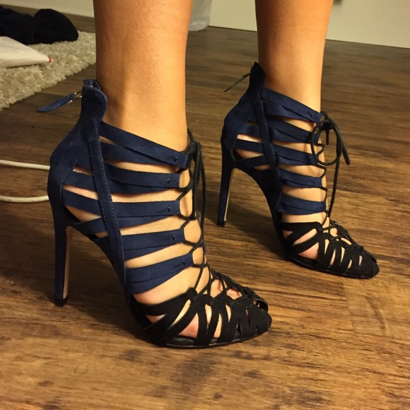 Zara Lace Up Heels Black | Tsaa Heel