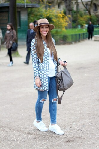 coat pattern spring fedora asos adidas superstar ootd fabes fashion jeans
