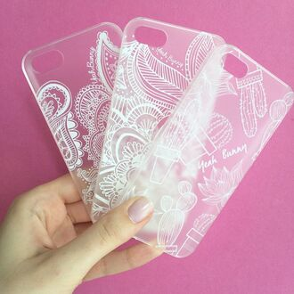 phone cover yeah bunny transparent case henna case iphone tumblr nails