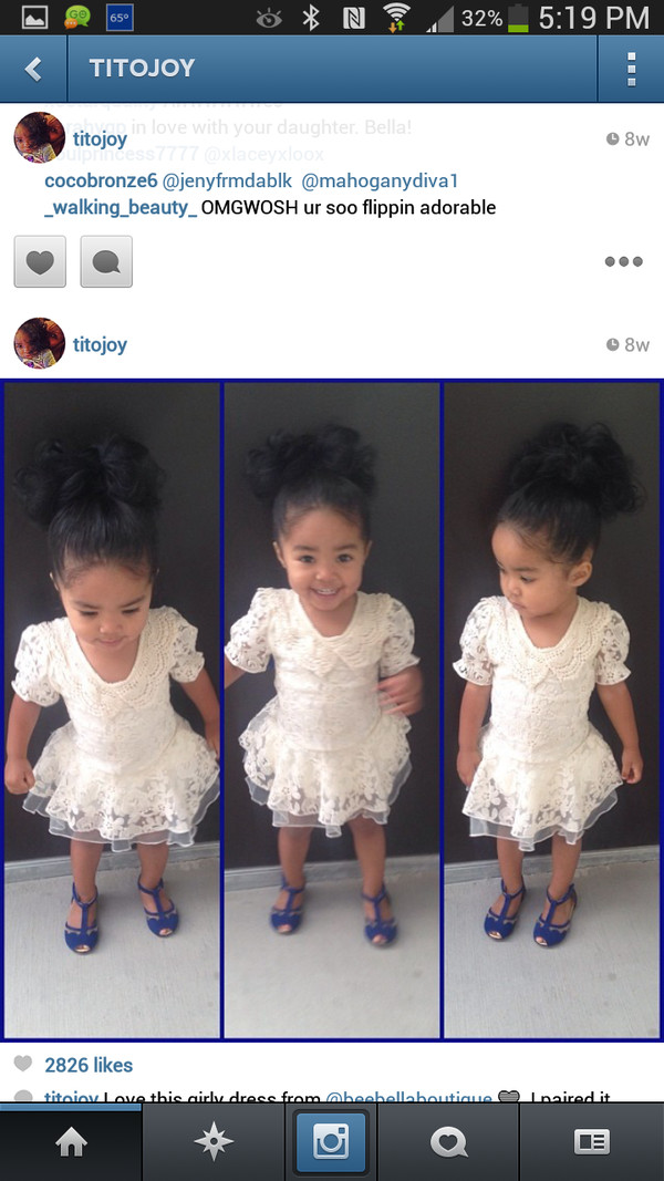 dress kids fashion lace white dress
