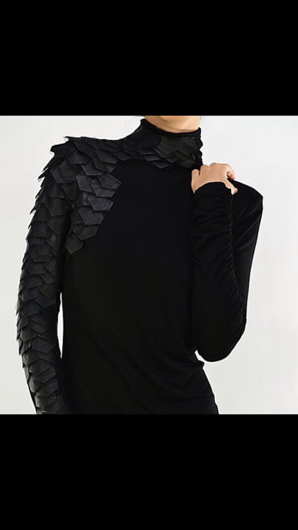 black dragon scales turtleneck