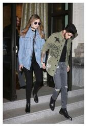 jacket,denim jacket,denim,gigi hadid,model off-duty,milan fashion week 2016,fashion week 2016,streetstyle