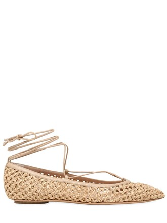 flats lace nude shoes