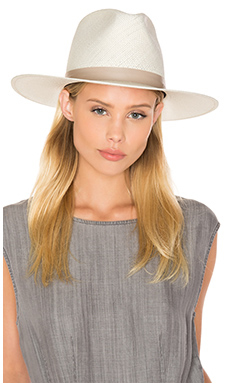 Janessa Leone Aster Tall Crown Panama Hat in Bleach from Revolve.com