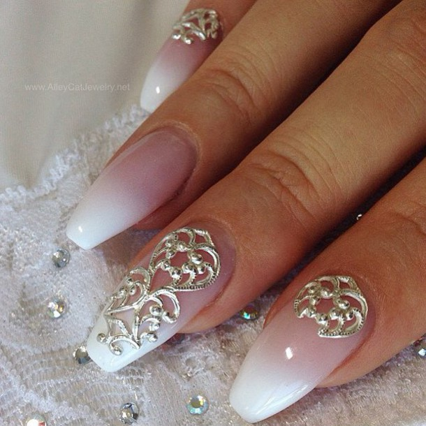 nail accessories, nail art, wedding, wedding nails, veils, nails ...