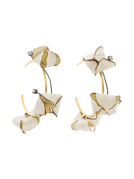 MARNI women earrings nude cotton jewels