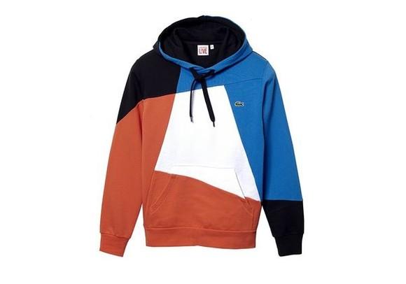 sweater lacoste menswear color block jacket