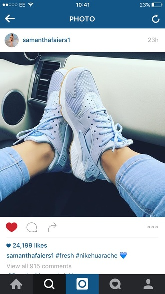 shoes huarache baby blue