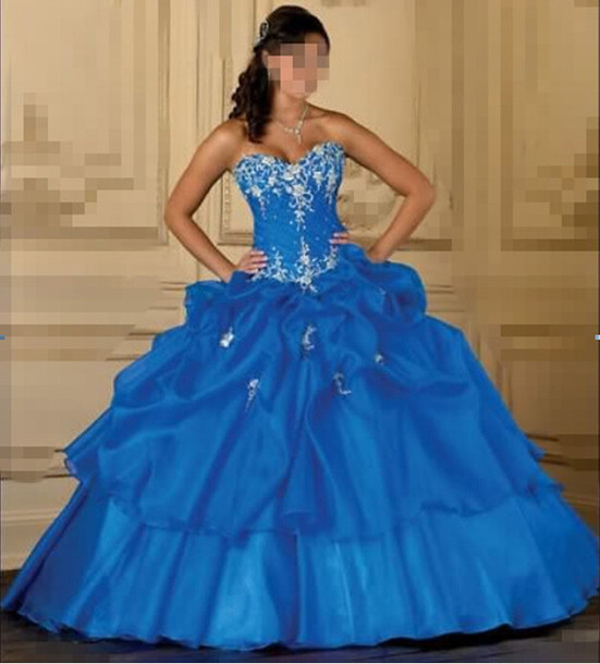 dress, royal quinceanera dress, ball gown prom dresses, ball gown ...