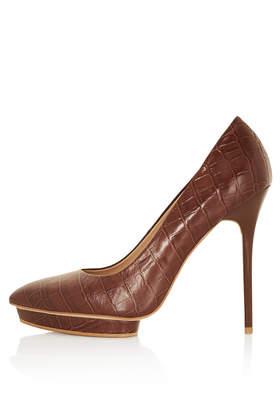 SODA Croc Platform Court Shoes - High Heels - Heels  - Shoes - Topshop USA