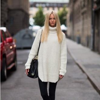 sweater white sweater oversized sweater knitwear