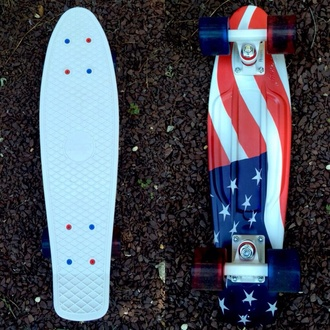 jewels penny board skateboard longboard american flag july 4th