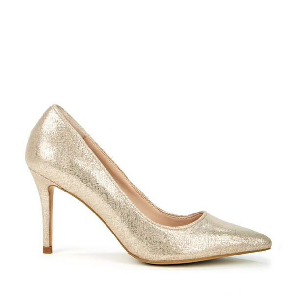 Sole Society Vera Pointed Toe Pump - Champagne-5