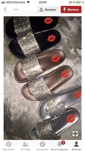 shoes,glitter,rhinestones,slippers