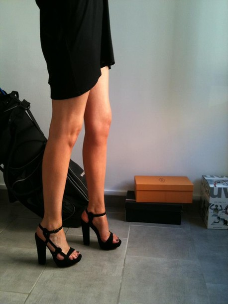 shoes sexy little black dress black simple high heels