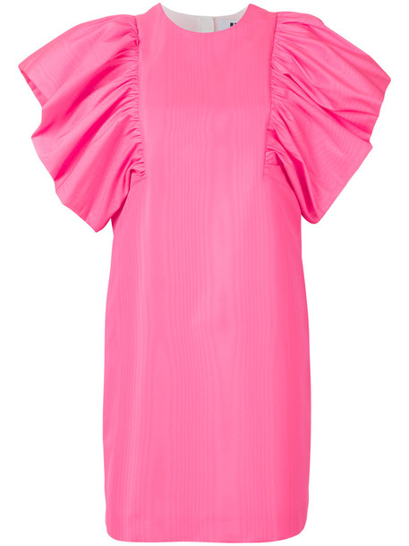 MSGM dress ruffle women purple pink