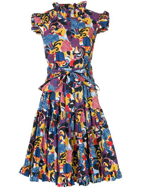 La DoubleJ dress print dress women cotton print blue
