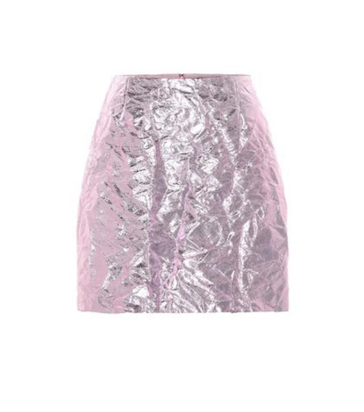 Sies Marjan Desiree metallic miniskirt in pink