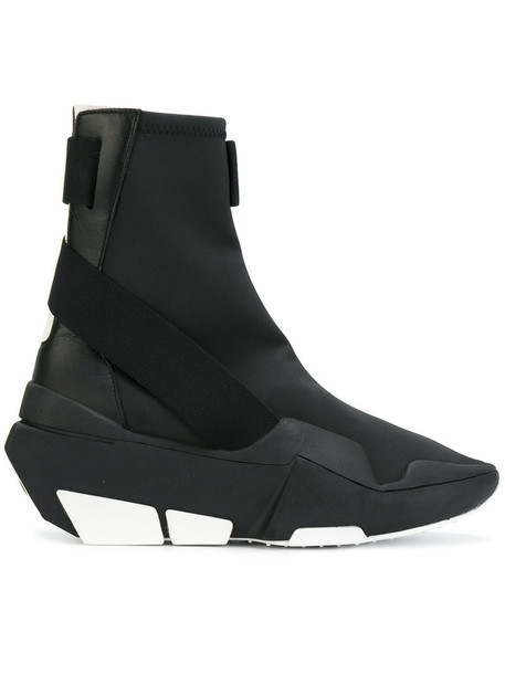 Y-3 high women black shoes