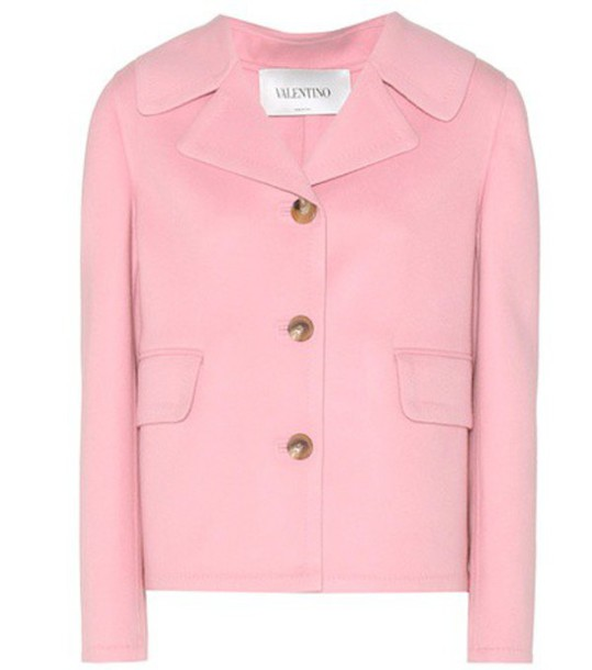 jacket wool pink