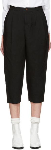 Comme Des Garçons Black Ester Cropped Trousers