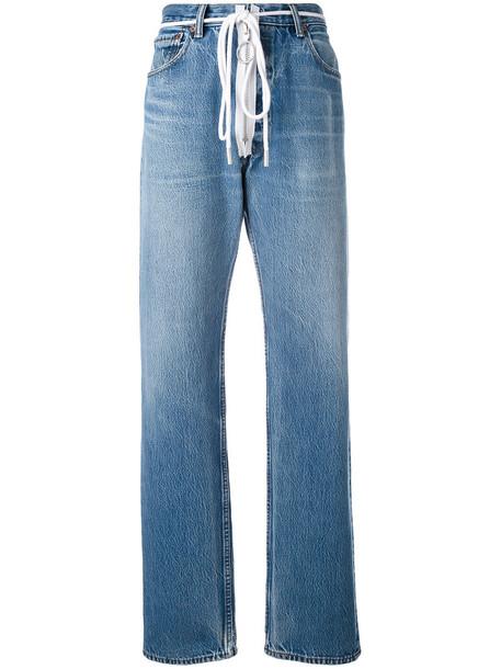 Off-White jeans zip women cotton blue