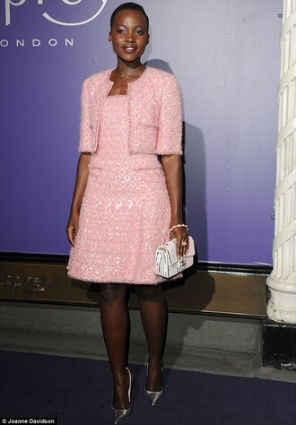 dress chanel jacket lupita nyong'o