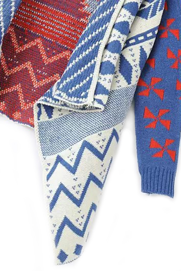 Southwestern Handkerchief-Hem Cardigan - OASAP.com