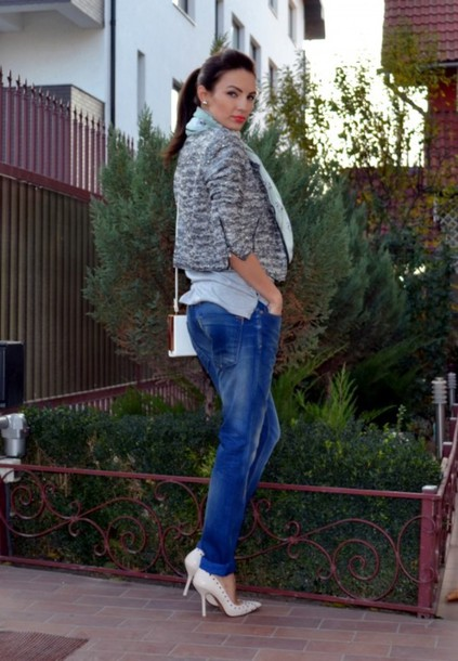 my silk fairytale jacket t-shirt jeans shoes bag scarf jewels