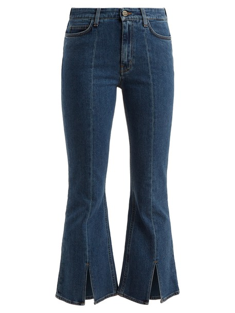 M.i.h Jeans jeans cropped jeans flare cropped high dark blue dark blue