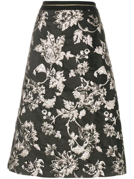 Luisa Cerano skirt women jacquard cotton grey
