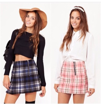 tartan tartan skirt a-line