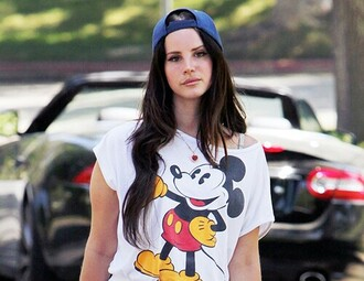 shirt mickey mouse disney tshirt. lana del rey