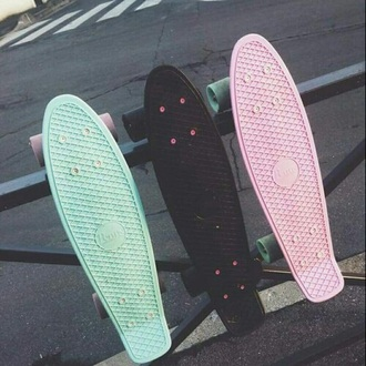 home accessory penny board pastel summer sports