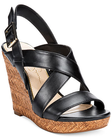 Jessica Simpson Jerrimo Platform Wedge Sandals - Sandals - Shoes - Macy's