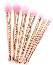 make-up,makeup brushes,gold,pink,ombre,cute