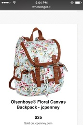 bag,olsenboye mint blue floral
