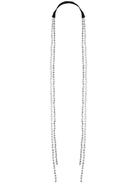 ANN DEMEULEMEESTER transparent women beaded necklace cotton black jewels