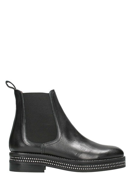 RAS black leather boots leather boots leather black black leather shoes