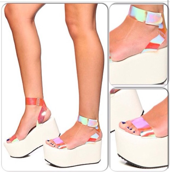 shoes platforms sandals high cute
