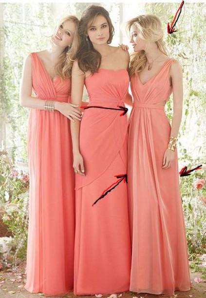 dress prom dress coral coral dress long dress long prom dress