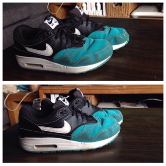 shoes nike shoes turquoise