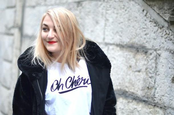 paris grenoble blogger graphic tee white t-shirt t-shirt