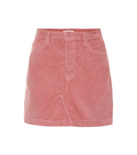 Grlfrnd Zamira corduroy miniskirt in pink