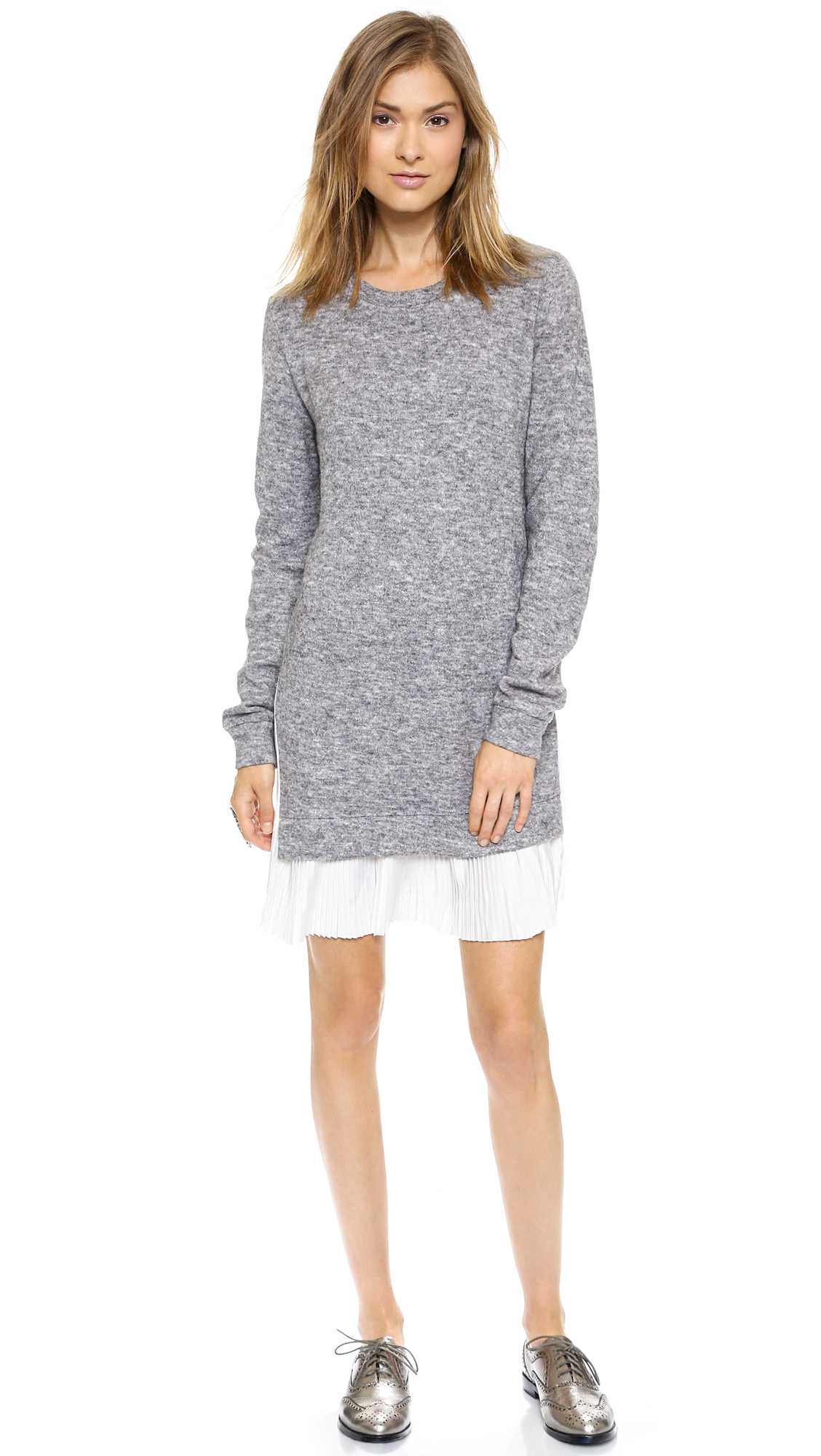 Clu clu too pleated sweater dress