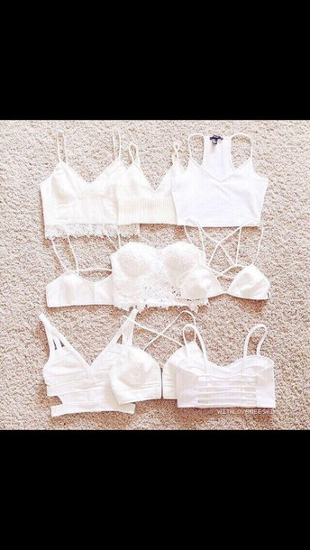 top white cut out crop top