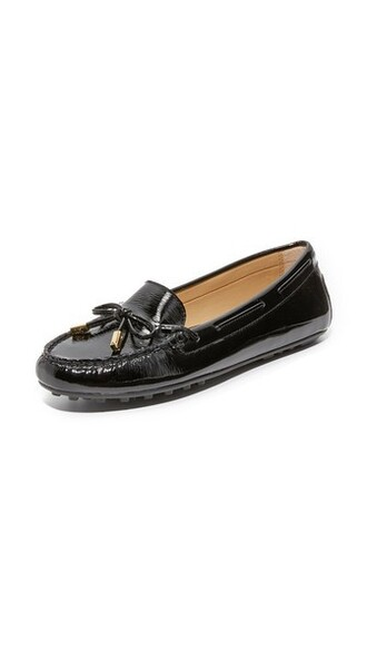 moccasins daisy black shoes